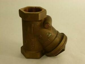 137983 Old stock Nibco Nt473bj Bronze Check Valve 1 1 2 Npt
