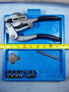 Roper Whitney No 5 Jr Metal Hand Punch Tool Set With Case And Dies