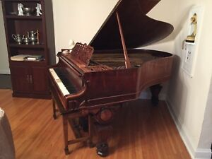 1880 Kranich And Bach Solid Rosewood Baby Grand Piano Price Drop