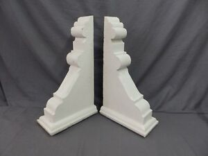 Large Pair Antique Corbels Roof Brackets Victorian Shabby Shelf Vtg Chic 522 17p