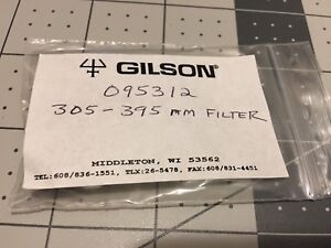 Gilson 305 395nm Wide band Excitation Filter For 121 Fluorometer 095312 New
