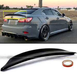 Fit 06 12 Is250 Is350 Duckbill Highkick Painted Glossy Black Trunk Wing Spoiler