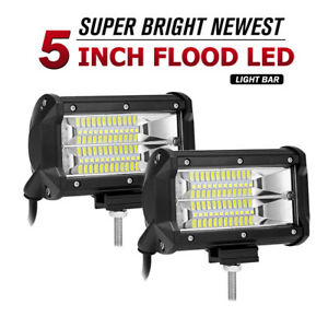 5inch 240w Led Pods Work Light Bars Flood 6000k Driving Fog Atv Jeep Suv 4x4 X2