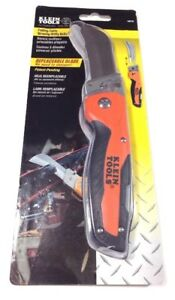 Klein Tools 44218 Cable Skinning Utility Knife Replaceable Heavy Duty Blade Clip