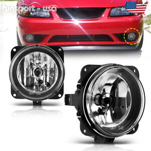 For 03 04 Ford Cobra 05 06 Escape Fog Lights Clear Lens Front Bumper Lamps Pair