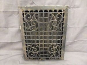 Antique Cast Iron Wall Ceiling Heat Grate Register Vent Old Vtg 13x11 562 17p