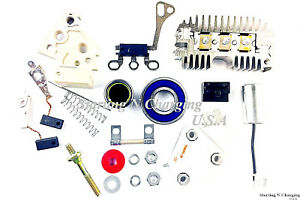 Alternator 10si Repair Rebuild Kit Delco Chevy Gm Regulator Brushes Rectifier