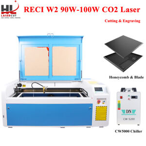 Co2 Laser Cutter 1060 100w Laser Cutting Engraving Machine 80mm Rotary Us Ship