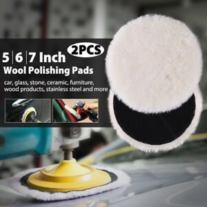 5 6 7 Inch Lambs Wool Buffing Polishing Pads Bonnets Sanding On Car Buffer Pad