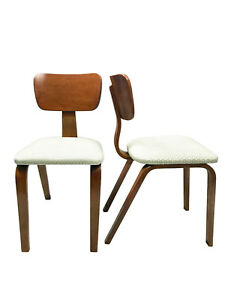 Mid Century Eames Era Joe Atkinson Maple Bent Plywood Chair For Thonet A Pair