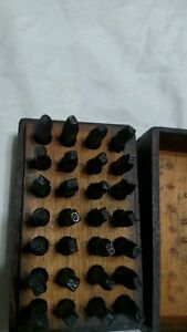 1 8 Vintage Steel Letter Stamps Full Set Machinist carp Hobby Made In Usa