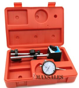 Universal 3d Deluxe Magnetic Base Holder W Dial Test Indicator 0 001 W Case