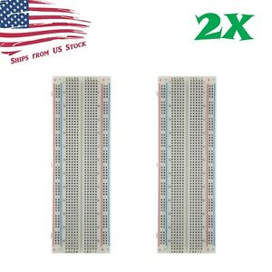 2x Mb 102 830 Point Prototype Pcb Solderless Breadboards Protoboards Us