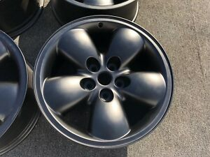 4 Perfect Genune Dodge Ram 1500 Wheels Rims Black Solid Alloy