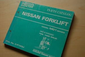 Nissan M01 Forklift Truck Spare Parts Manual Book Catalog List 1988 Factory Mo1
