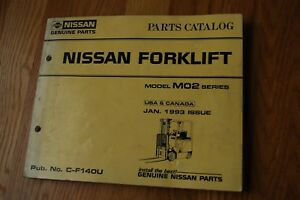 Nissan M02 Series Forklift Truck Spare Parts Manual Book Catalog List 1993 Mo2