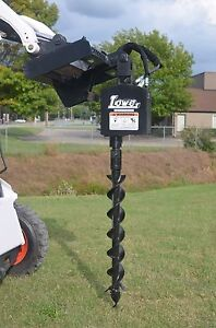 Bobcat Skid Steer Attachment Lowe 750 Classic Auger With 6 Bit Ship 199