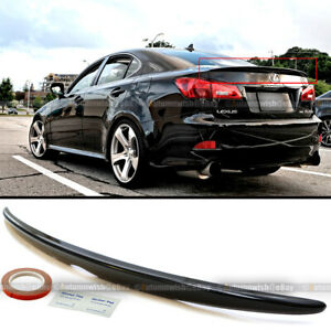 For 06 12 Is250 Is350 Oe Style Painted Glossy Black Abs Rear Trunk Wing Spoiler