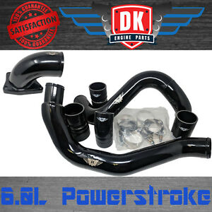 Ford Black Intercooler Pipes Intake Elbow 2003 2007 6 0l Powerstroke Diesel 6 0