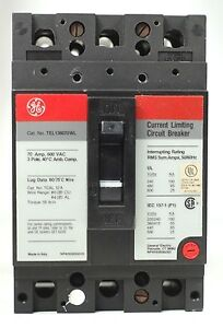 Ge General Electric Tel136070wl 3 pole 70a Current Limiting Circuit Breaker New