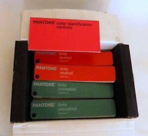 Pantone Tints 4 volume Guide Set Gp1205 Discontinued Coated uncoated 1114 Colors