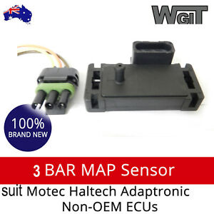 Universal Fit 3 Bar Map Sensor To For Motec Haltech Adaptronic Non Oem Ecus