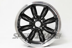 Rota Rb Wheels Hyper Black W Polish Lip 16x7 40 4x100 Civic Integra Miata Mini