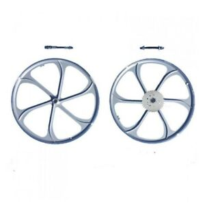 26 Silver Mag Wheel With 32 Teeth 3 6 9 Holes Combo Set gas Motorized Bicycle