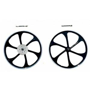 26 Black Alum Wheel With 32 Teeth 3 6 9 Holes Combo Set gas Motorized Bicycle