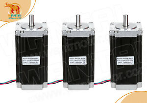 usa Ship 3pcs Nema23 Stepper Motor 425oz in 4 2a Wt57sth115 4204a Cnc Engraver