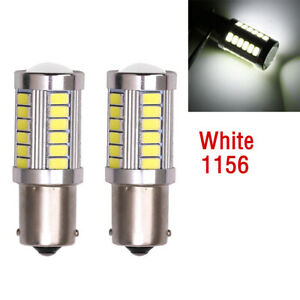 2x Ba15s P21w 1156 Led Car Backup Reverse Light White Bulb 33 Smd 5630 5730 12v
