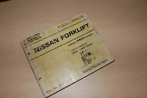 Nissan Model M02 Series Forklift Truck Parts Manual Book Catalog Spare List Mo2
