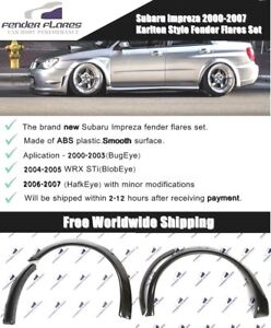 Subaru Impreza Wrx Sti 00 07 Karlton Style Fender Flares Wide Body Kit Arches Us
