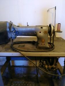 Singer Industrial Walking Foot Leatherupholstery Sewing Machine 111w155 Complete