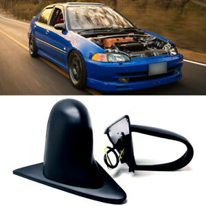 Fit 92 95 Civic 4dr Sedan Powered Adjustable Spoon Style Jdm Side View Mirror