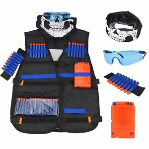 Tactical Vest Kit for Nerf Guns N-Strike Elite Series extra ammo quick reload