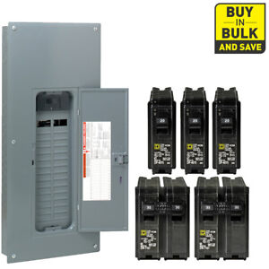 Square D Main Breaker Plug On Homeline 60 Circuit 30 Space 200 Amp Neutral Load