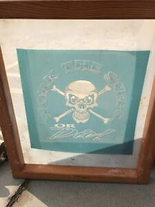 Wood Silk Screen Frame Print work The Steps Or Die Decor Or Clean Re use