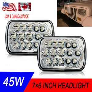 Universal 7x6 54w Square High Low Beam H4 Led For Projector Headlights