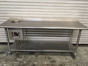 72 Table With Drop In Soup Well Tabco 7105 Commercial Stainless Steel