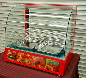 New Hot Food Warmer Display Case Uniworld Dn ch3 2295 Counter Top Heated Glass