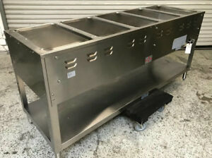 5 Well Steam Table Gas Stainless Steel Duke Wb305pm 7439 Commercial Restaurant