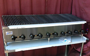New 60 Radiant Charbroiler Grill Gas Stratus Srb 60 1258 Commercial Restaurant