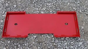 Mahindra Quick Attach Attachment Skid Steer Mount Weld Plate Free Shipping