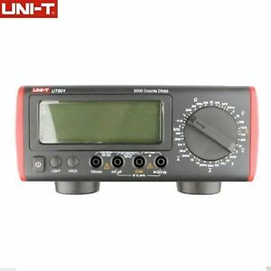 Uni t Ut801 Bench Type Digital Multimeter Thermometer Lcd Display Data Hold