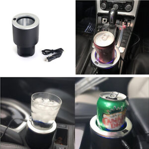 Portable Car Electric Cup Holder Drink Water Cooler Cigarette Lighter Plug 12v