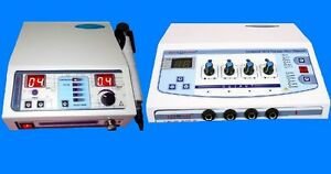 New Portable Combo Electrical Stimulator Ultrasound Electrotherapy Unit