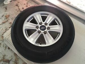 2015 2017 Ford F150 17 Inch Takeoff Aluminium Wheels And Michelin Tires Oem