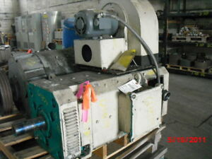 75 Hp Dc Baumuller Electric Motor 2200 Rpm 180mv Frame Dpfv 500 V