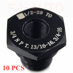 10 Pcs Threaded Oil Filter Adapter 1 2 28 To 3 4 16 13 16 16 3 4npt Brand New